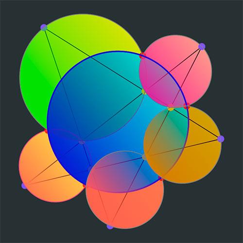 Interconnecting Circles on Google