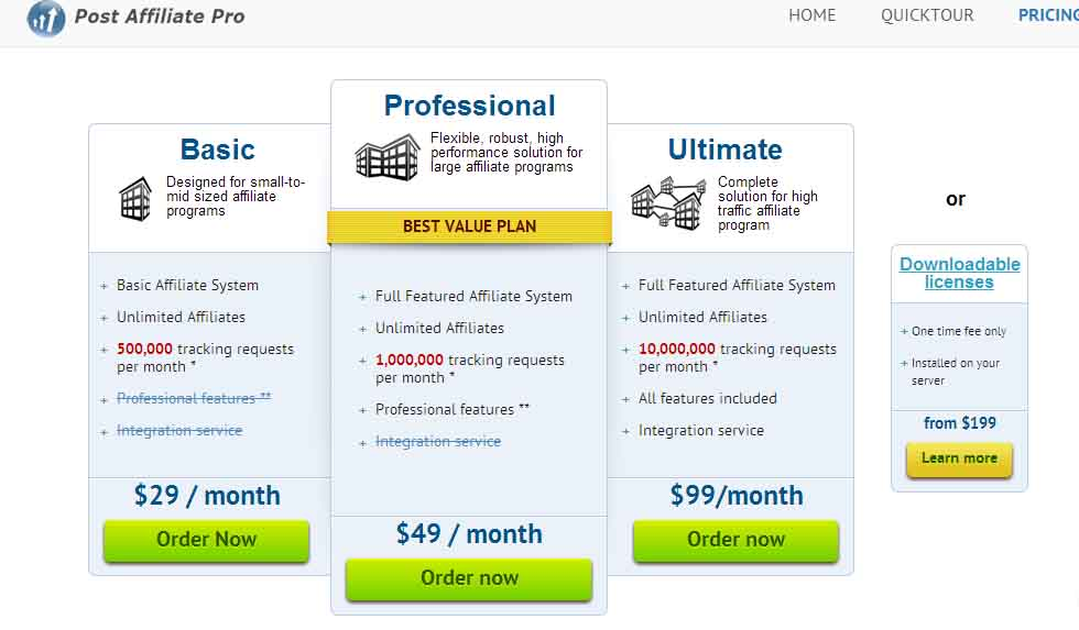 Pro Affiliate Pricing