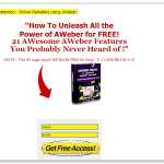 AWeber Squeeze Page