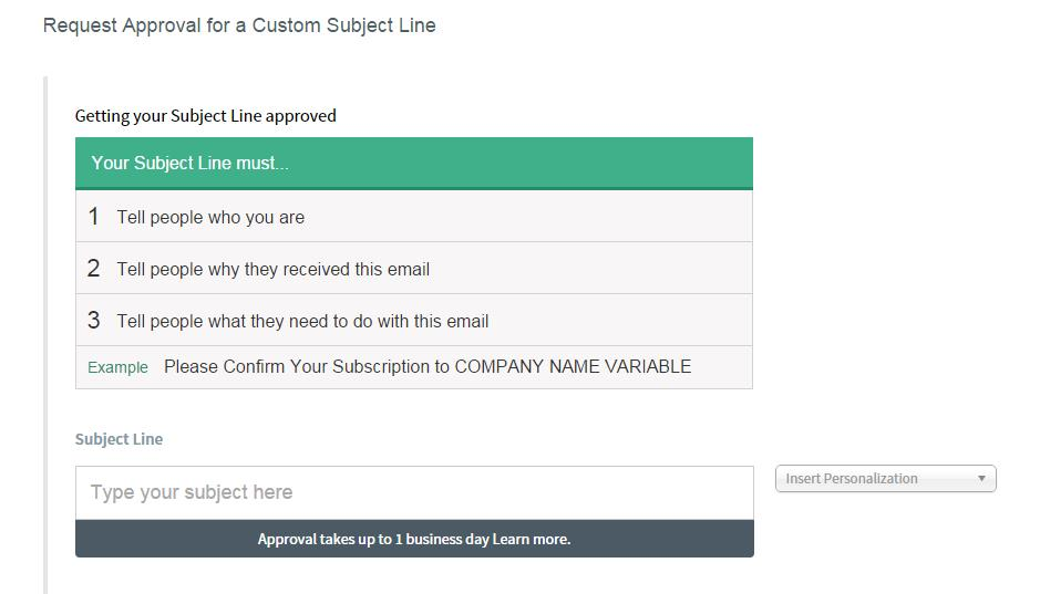 8.Custom Subject Line