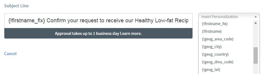 9.Personalize subject line