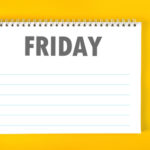 Friday Calendar Schedule Blank Page
