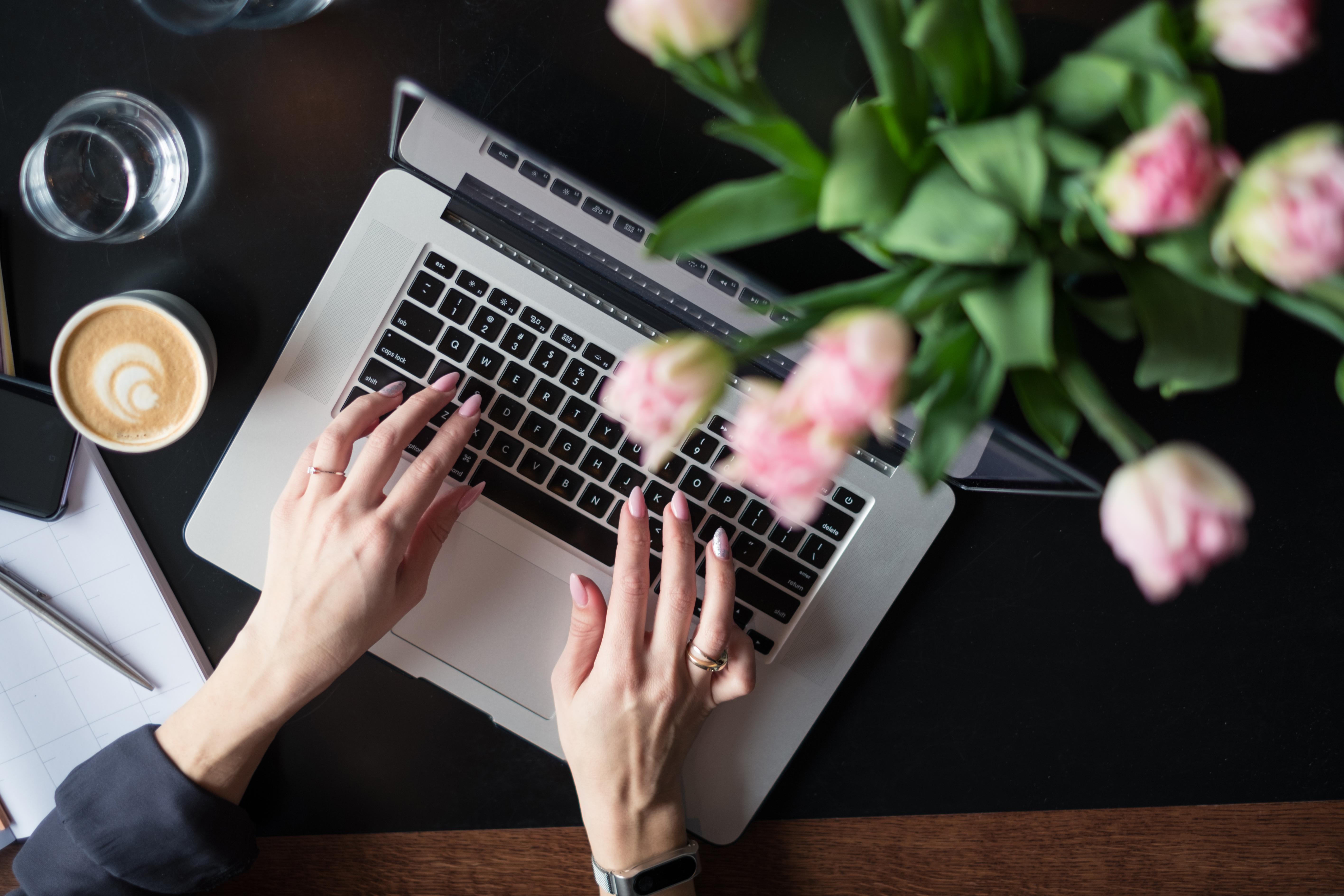 Woman at the computer