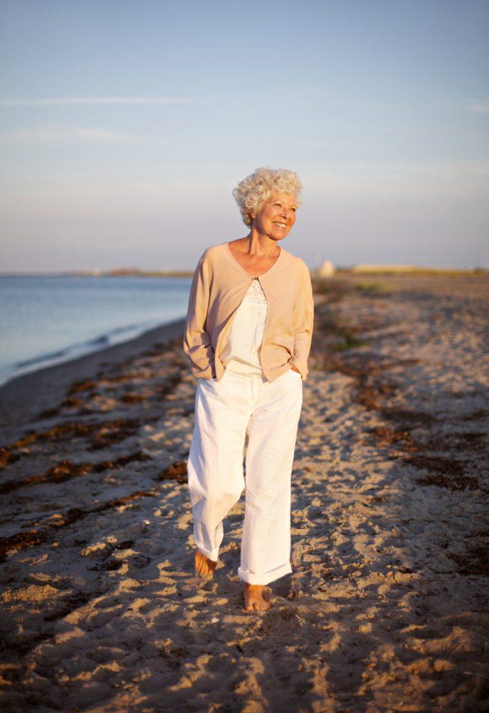 Older Woman on the Beach